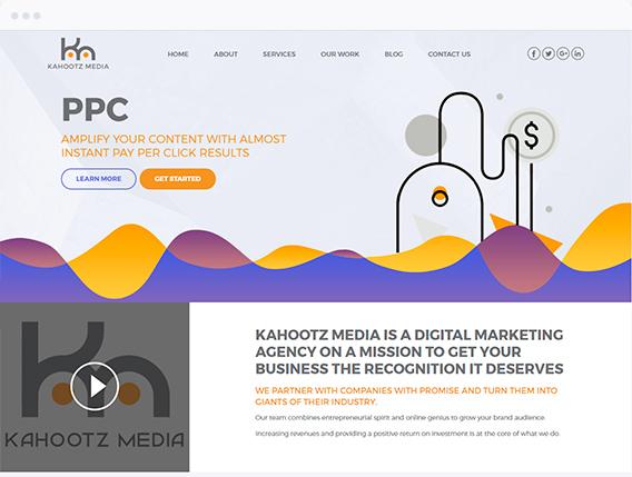 Kahootz Media Website Design