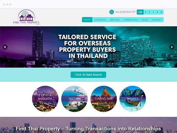 Thailand Real Estate Website Design