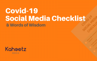 Covid-19 Social Media Checklist