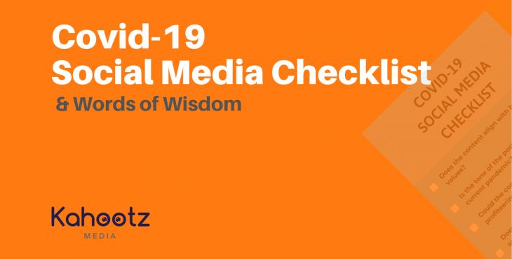Covid-19 Social Media Checklist