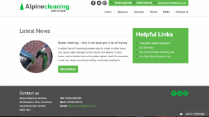 Alpine Cleaning Website